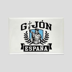 Gijon Espana Rectangle Magnet