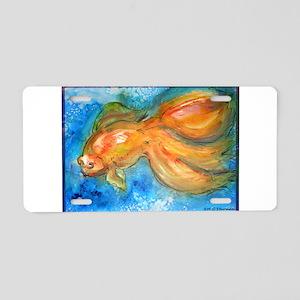 Goldfish, fun art! Aluminum License Plate