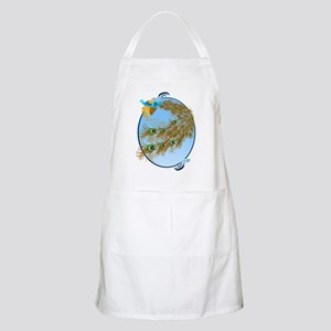 Flying Peacock Oval Apron