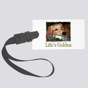 Lifes Golden Large Luggage Tag