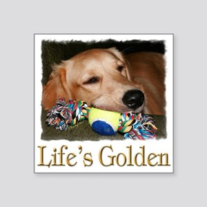 "Lifes Golden Square Sticker 3"" x 3"""