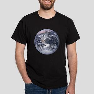 Earth & Moon Image2sides Dark T-Shirt