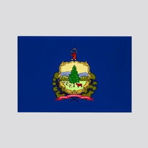Vermont State Flag Rectangle Magnet