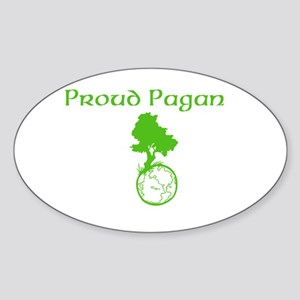 Proud Pagan Sticker (Oval)