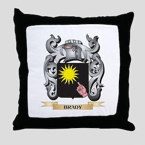 Brady Family Crest - Brady Coat of Ar Throw Pillow