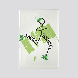 Cute Cross Country Runner Rectangle Magnet