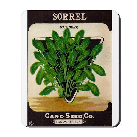 Antique Seed Packet Art Sorrel Mousepad