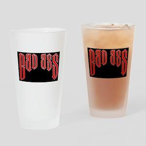 BAD ASS (Black) Drinking Glass