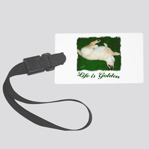 Life is Golden Puppy Large Luggage Tag