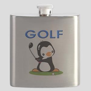 Golf Penguin (1) Flask