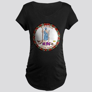 Virginia State Seal Maternity Dark T-Shirt