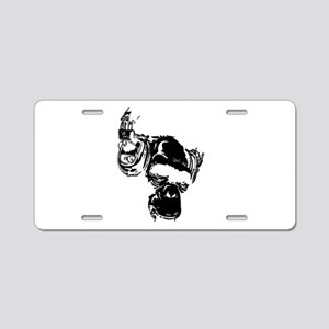 DJ_Black Aluminum License Plate