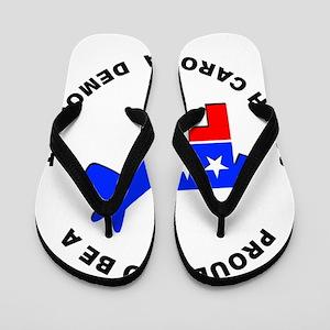 South Carolina Democrat Pride Flip Flops