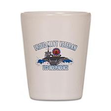 Proud Navy Veteran Shot Glass