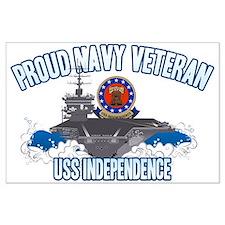 Proud Navy Veteran Large Poster