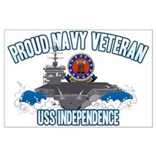Proud Navy Veteran Large Poster