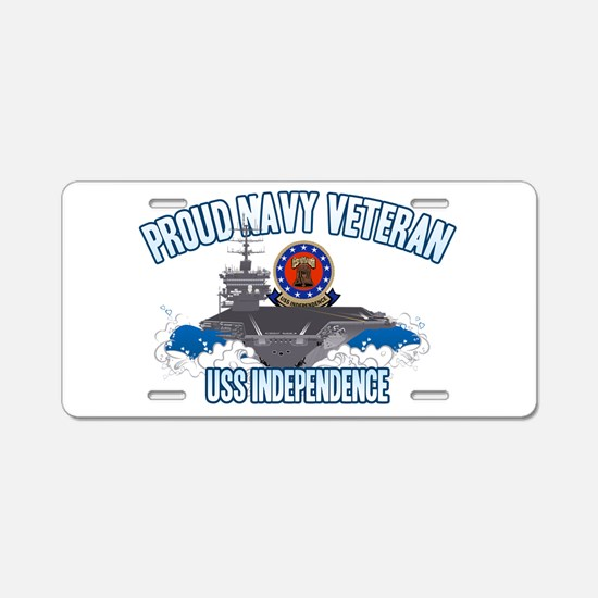 Proud Navy Veteran Aluminum License Plate