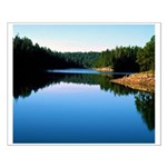 Mogollon Rim Lake Sunrise Small Poster