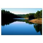 Mogollon Rim Lake Sunrise Large Poster