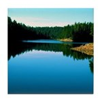 Mogollon Rim Lake Sunrise Tile Coaster