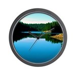 Mogollon Rim Lake Sunrise Wall Clock