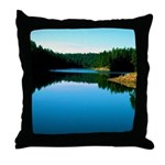 Mogollon Rim Lake Sunrise Throw Pillow