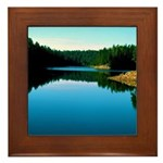 Mogollon Rim Lake Sunrise Framed Tile