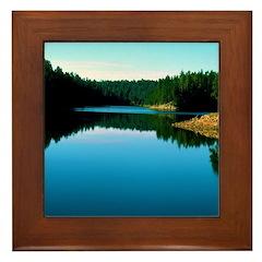 Mogollon Rim Lake Sunrise Framed Tile