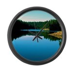Mogollon Rim Lake Sunrise Large Wall Clock