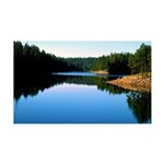 Mogollon Rim Lake Sunrise 35x21 Wall Decal