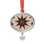 Wine'n Cream Mandela Oval Year Ornament