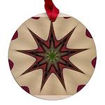 Wine'n Cream Mandela Maple Round Ornament