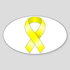 Yellow Ribbon Sticker (Oval)