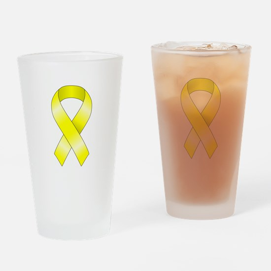 Yellow Ribbon Drinking Glass