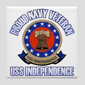 USS Independence Tile Coaster