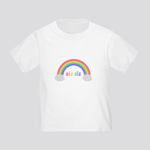 rainbow big sis Toddler T-Shirt