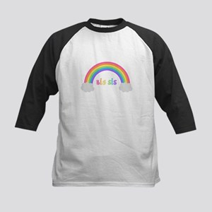rainbow big sis Kids Baseball Jersey
