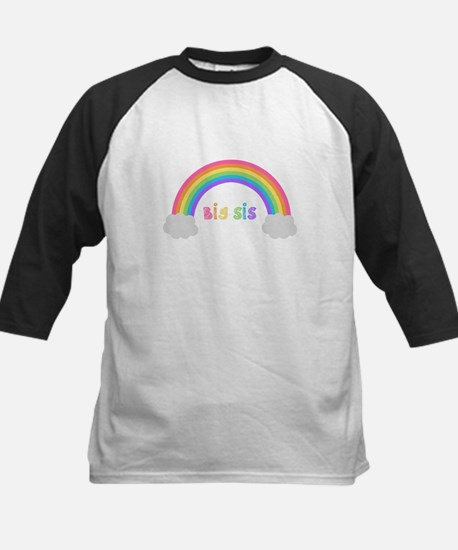 rainbow big sis Kids Baseball Jersey