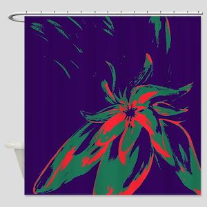 Beautiful Designer Purple Floral Shower Curtain
