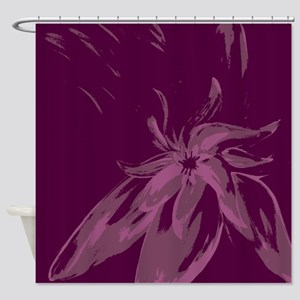 Beautiful Designer Purple Abstract Shower Curtain