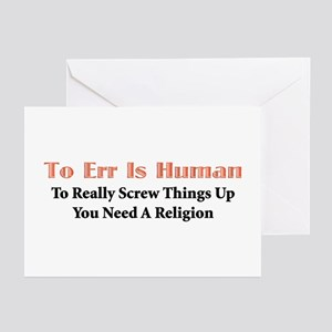 To Err Greeting Cards (Pk of 10)
