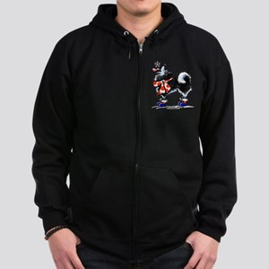 Alaskan Malamute Snowflake Zip Hoodie (dark)