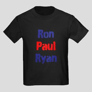 Ron Paul Ryan Kids Dark T-Shirt