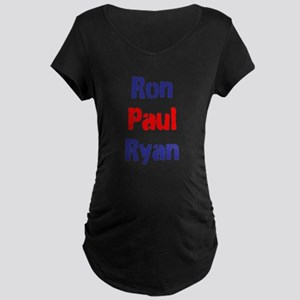 Ron Paul Ryan Maternity Dark T-Shirt
