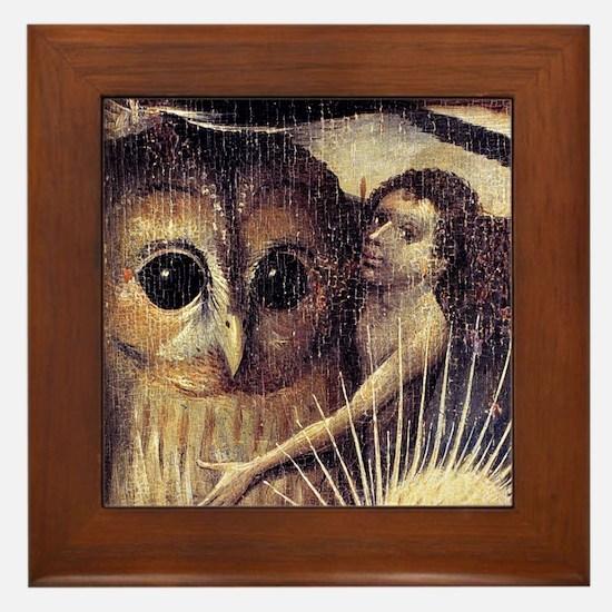 Bosch Earthly Delights (Detail) Framed Tile