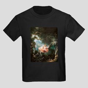 Jean-Honoré Fragonard The Swing Kids Dark T-Shirt
