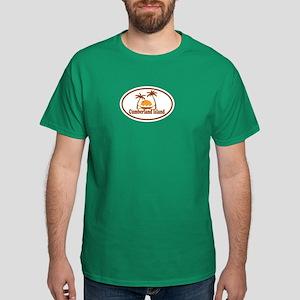 Cumberland Island GA - Oval Design. Dark T-Shirt