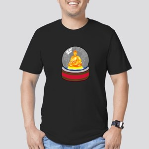 Meditating Buddha in a Snow Globe Men's Fitted T-S
