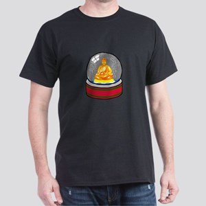 Meditating Buddha in a Snow Globe Dark T-Shirt