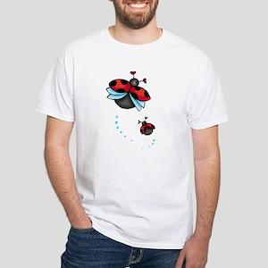 Ladybugs White T-Shirt